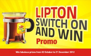 Only 15 Lipton Yellow Label Tea Tags in Lipton Switch On & Win Promo 2012 Could Get You the Ultimate Price of KIA Picanto Car, Other Great Prices Are Available for Win.