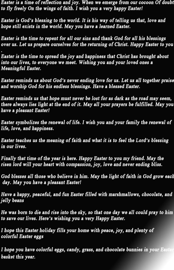 Best easter wishes messages for family and friends m4hsunfo