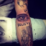 Justin Bieber Gets Tattoo of His Mothers Eye
