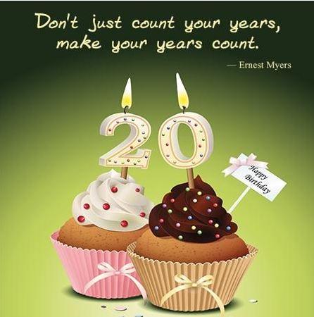 Happy 20th Birthday Wishes Best 100 Great Wishes Happy 20 Birthday Wishes