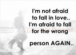 scared of falling in love